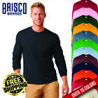 Brisco Heavy Cotton 5.2 oz Adult Plain Color Blank Long Sleeve T Shirt Tee Top image