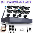 1080p 8CH NVR IP Wireless Security Camera System CCTV Day Ni