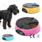 3 Color Programmable Timer Automatic 6 MealTray Pet Dog Cat Feeder Water Bowls