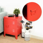 Metal Cabinet Locker 2 Tier Filing Storage Organizer Side End Table Nightstand