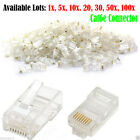 RJ45 Network LAN CAT6 6e Cable End Crimp Patch Plug Connector GOLD Pins Bulk Lot