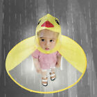 Kids Baby Children Rain Coat UFO Duck Raincoat Hat Magical Hands Free Umbrella