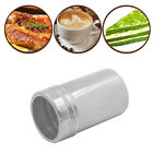 2 Sizes Stainless Steel BBQ Powder Dredger Chocolate Cinnamon Coffee Shaker Tank