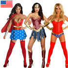 Adult Wonder Woman Corset Costume Super Hero Superwoman Fanc