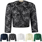 Ladies Lace Shrug Bolero Jacket Cardigan Dress Cover Top Birthday Evening Party