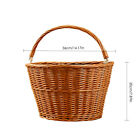 Retro Wicker Bicycle Bike Front Basket Handlebar Cargo Box Shopping Camping