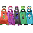 Teen Titans Costume Capes with masks Girls Halloween Kids Bi