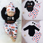 USA Halloween Set Infant Baby Girl Boy Romper Tops +Pants +H