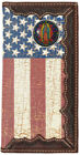 Our Lady of Guadalupe Distressed American Flag Long Leather Rodeo Wallet