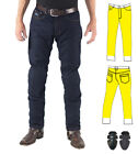 Mens Raw Blue Slim Motorcycle Jeans Fully Lined w/ DuPont™ Kevlar® 34 36 38 40
