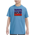 Youth Kids T-shirt I'm Proud My Daddy Saves Lives Police Officer Cop k-556