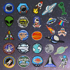 Outer Space Embroidery Sew On Iron On Patch Badge Fabric Applique Craft Transfer
