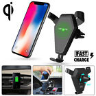 Qi Wireless Car Fast Charger Holder Mount For iPhone X 8 Plus Samsung Note 8 S9