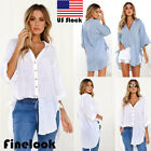 Finelook Sexy Women's  Casual Tops Shirt Loose Blouse Clothes Plus Size T-Shirt