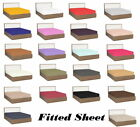 1000 TC Egyptian Cotton Deep Pkt Fitted Sheet All Colors RV-Queen