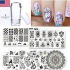 BORN PRETTY Nail Art Stamping Plates Image Templates Stamper Scraper Tools Kit
