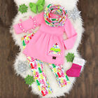 US Stock Toddler Kids Baby Girls Christmas Halloween Tops Pants Outfits Clothes