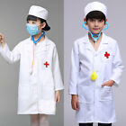 White Kids Doctor Coat Fancy Dress Hospital Children Girls Boys Surgeon Costume