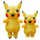 Adult Kids Pokemon Pikachu Inflatable Costume Suit Cosplay Fancy Dress Outfit