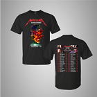 METALLICA worldwired tour 2018 – 2019 U.S. 2 side T-shirt all size tee image