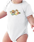 Infant creeper bodysuit One Piece t-shirt Cat Kitten Asleep Blanket Quilt k-692