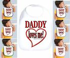 Rabbit Skins Infant Cotton Snap Bib Daddy Loves Me dad father
