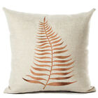 New Simple Leaf Cotton and Linen Pillowcase Home Cushion Cover