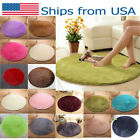 Fluffy Round Plush Rugs Anti-Skid Shaggy Area Pad Living Roo