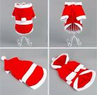 Gift Puppy Dog Christmas Clothes Santa Claus Costume Outwear Coat Apparel Hoodie