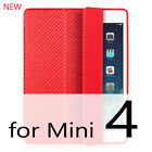 Case for iPad Mini 4 3 2 1 Case PU Leather Silicone Soft Back Trifold Stand Slee