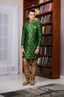 Indian Mens Wear Green Color Party Wear Wedding Indo Western Dress From India