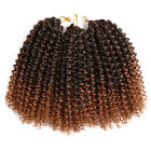"""8"""" 3Pcs/Pack Curly Ombre Crochet Twist Braids Synthetic Braiding Hair Extensions"""