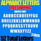 "Alphabet Letters Decals Impact 1/2"" 3/4"" 1"" Up To 5"" Sizes Free Ship Stickers"