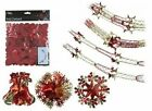 Red Gold Christmas Foil Ceiling Decoration Garlands, Bells, Stars, Snowflakes,