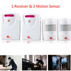 1byone 2X Home Security Driveway Alarm Wireless Motion Detector Alert Door Bell