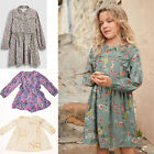 EX Next Girl Multi Floral Long Sleeve Casual Designer Dress Size 6 month - 12Yrs