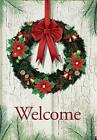 welcome christmas wreath double sided decor winter