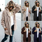 Womens Winter Hooded Pullover Plush Fluffy Coat Fleece Fur J
