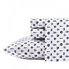 Poppy & Fritz Sea Icons 4-Pc Sheet Set, T200 Percale Cotton, Soft image