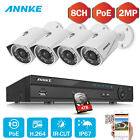 ANNKE Überwachungskamera 8CH POE HD 5MP NVR CCTV 2MP Kamera Smart Search IR-Cut