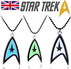 UK NEW Star Trek Metal Logo Pendant Necklace - Black - Choose Colour 80's TV on eBay