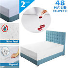 2X Breathable Mattress Encasement Zippered Bed Bug Hypoallergenic Cover LOT BR image
