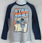 Star Wars Boys T-Shirt Officially Licensed R2-D2 Gray Long Sleeve $9.59 USD on eBay