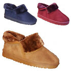 Ladies Womens Winter Cold Fur Casual Slipper Hard Sole Warm Snow Mules Shoes 3-8