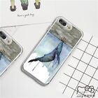"""Ink Painting """"Whale Hit Sailboat"""" Pattern Soft TPU Phone Case For iPhone Samsung"""