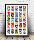 Vintage Football Clubs & Colours : poster of 1954 Cigarette cards, Reproduction.