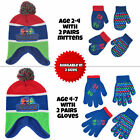 PJ Masks Hat and 2 Pair Mittens or Gloves Cold Weather Set Little Boys Age 2 7