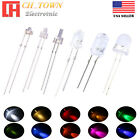 1.5mm 1.8mm 2mm 3mm 5mm 8mm 10mm LED White Red Blue UV Lights Emitting Diodes US