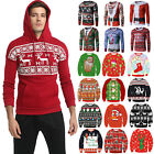 Mens Xmas Christmas Novelty Santa Hoodies Jumper Sweater Blo