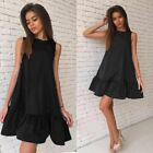 Sexy Ruffles Women Dress  Sleeveless Casual A Line Dresses Party Cocktail Short
